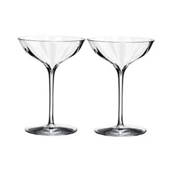 Elegance Optic Pair of champagne coupe glasses