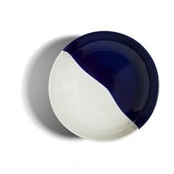 Dip Salad plate, Dia22.5cm, cobalt/cream