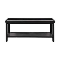 Aldwych Coffee table, L110 x D60 x H45cm, warm black