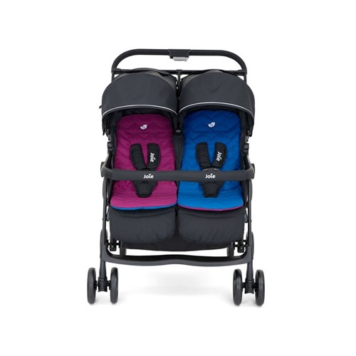 Aire Twin stroller, H103 x W76 x D81cm, Rosy & Sea