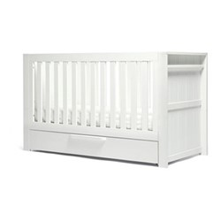 Franklin Convertible cotbed & toddler bed 3 in 1, H91 x W75 x L155cm, white wash