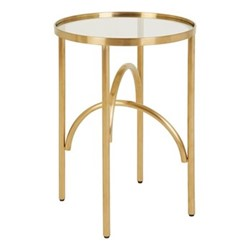 Giovanna Side table, H58 x Dia38cm, Metallic