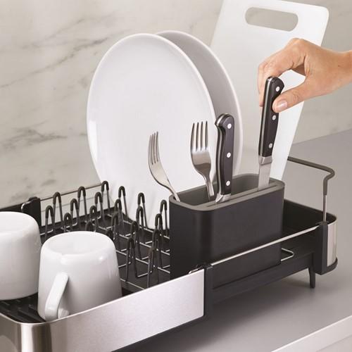 Dish rack, H16.5 x W31 x D35.5cm, grey