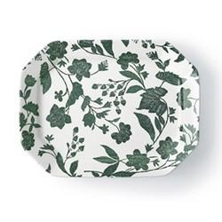 Garden Vine Rectangular platter, green