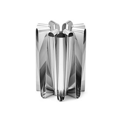 Frequency Vase, H22 x Dia16cm, stainless steel