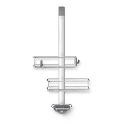 Over door shower caddy, H81.5 x W31.5cm, stainless steel/anodised aluminium