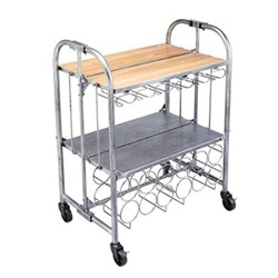 Barcraft Deluxe folding bar cart