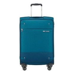 Base Boost Spinner expandable suitcase, 66 x 44 x 28/31cm, petrol blue stripes