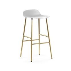 Form Bar stool, L43 x H77 x D43cm, White
