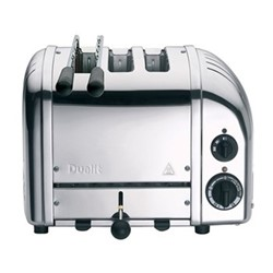 Classic Combi 2+1 slot toaster, polished stainless steel