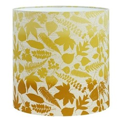 Falling Leaves Lampshade, 36 x 36cm, natural/turmeric ombre