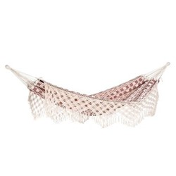 Rio Hammock (without stand), 250 x 160cm, natural & red