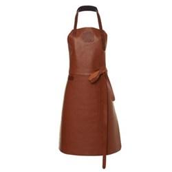 Ladies apron, medium, cognac/cognac