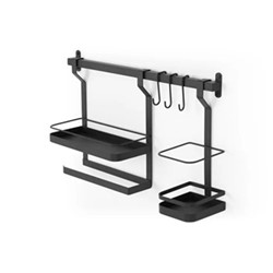 Tomas Metal storage rack, 33 x 56 x 13cm, Black