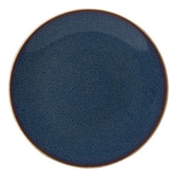 Art Glaze Coupe plate, 16.5cm, pressed mulberry