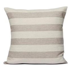 Fastnet Stripe Cushion, 60cm, mushroom