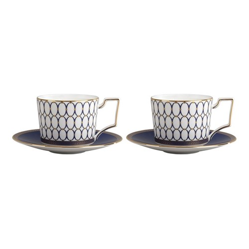 Renaissance Gold Pair of cups & saucers, 220ml, white