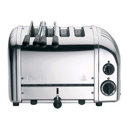 Classic Combi 2 x 2 slot toaster, polished stainless steel