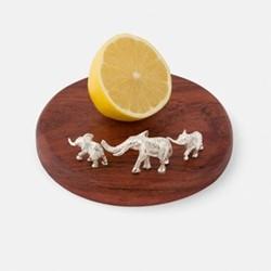 Highland Safari - Elephant Lemon board, H5 x W13 x L13cm, silver plate