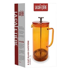 Colour Cafetiere, 8 cup - 1 litre, amber