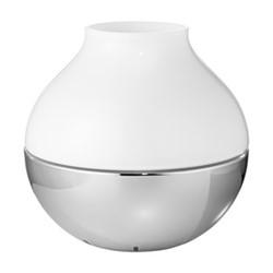 Henning Koppel Medium hurricane lamp, H18.6 x D19.2cm, silver/white