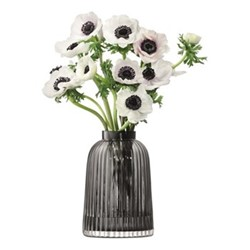 Pleat Vase, 20cm, grey