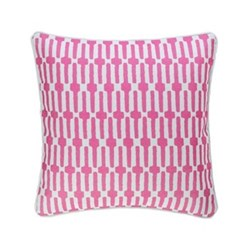 Fresh American - Links Recycled polyester P.E.T. indoor/outdoor cushion, 51 x 51cm, fuchsia