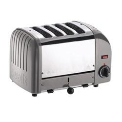 Classic Vario 4 slot toaster, metallic silver