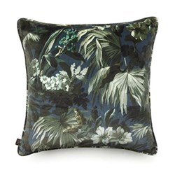 Limerence Large velvet cushion, 60 x 60cm, ink