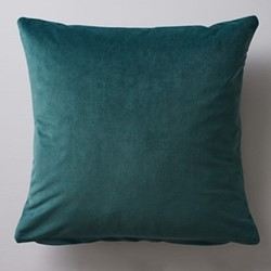 Albion Velvet cushion, 45 x 45cm, green