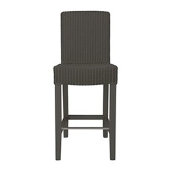 Montague Bar stool with back rest, H98 x W41 x D48cm, slate