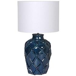Table lamp, H62 x Dia35cm, deep blue