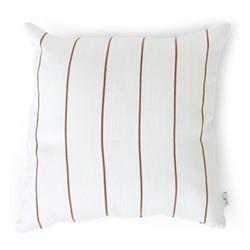 Evie Pinstripe Outdoor cushion, H45 x W45cm, Burnt Sienna