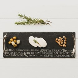Engraved Small antipasti serving tray, 42 x 15cm