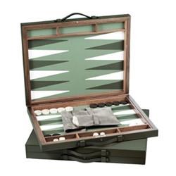 Bond Backgammon set, 70 x 44cm, loden green/pistachio