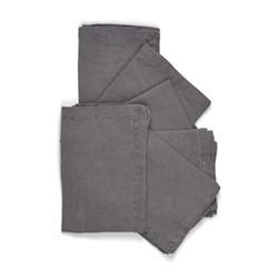 Emily Set of 6 napkins, L45 x W45cm, peat