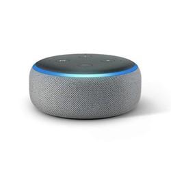 Echo Dot smart speaker, heather grey