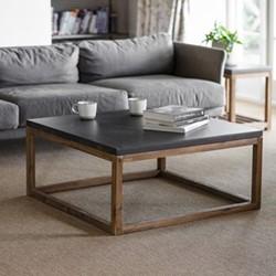 Chilson Coffee table, H40.5 x W85 x D85cm, brown & black