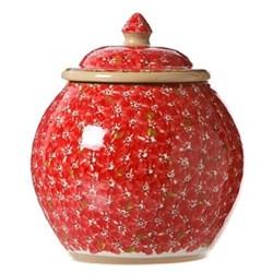 Lawn Cookie jar, H22.9 x W10.8cm, red