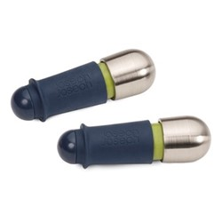 BarWise - Twist Lock Pair of wine stoppers, H21.6 x W10 x D2.6cm, blue