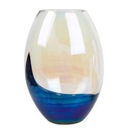 Slick  Oval vase , H16.5 x D22cm, Multi