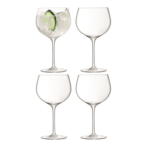 Gin Set of 4 balloon glasses, 680ml, clear