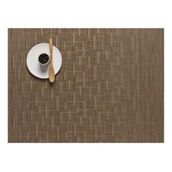 Bamboo Set of 4 rectangular placemats, 36 x 48cm, amber