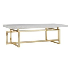 Marguerite Coffee table, H45 x W140 x D70cm, brass and marble