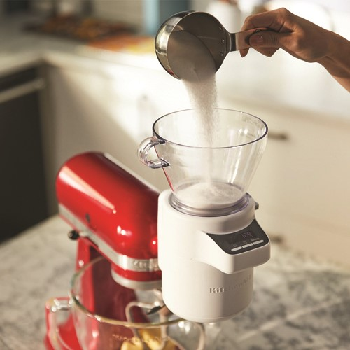 Sifter and scale attachment, white