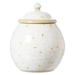 Lawn Cookie jar, H22.9 x W10.8cm, white
