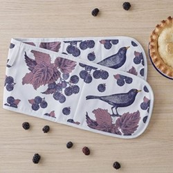 Blackbird & Bramble Oven glove, 20 x 84cm, white/purple/pink