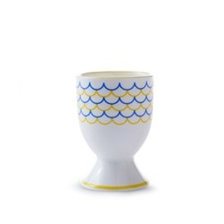 Ripple Egg cup, H6.5cm, yellow/blue