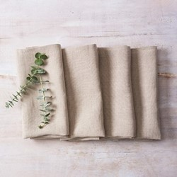 Alma Set of 4 linen napkins, 42 x 42cm, oatmeal