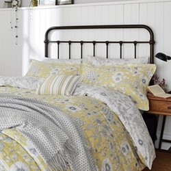 Maelee King size duvet cover, L220 x W230cm, yellow